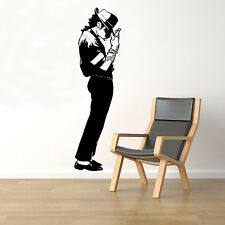 Michael Jackson Wall Decal King of Pop Vinyl Sticker Music Unique Decor 71(nse)