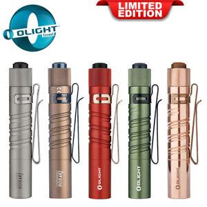 Olight I3T EOS Black/Red/ Green / CU/ Ti /Tan Slim Tail Switch Flashlight 180LM