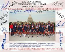 2012 USA BASKETBALL DREAM TEAM SIGNED AUTOGRAPH 8x10 RP PHOTO BY13 KOBE BRYANT +