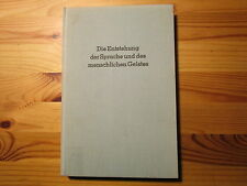 Die Entstehung der Sprache und des menschlichen Geistes, von Eduard Rossi