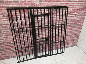 Jail cell Kit Door Unit 1/10 1/12 scale Action Figure Diorama Prop Doll House