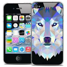 Coque Crystal Rigide iPhone 4/4s Extra Fine Polygon Animals - Loup