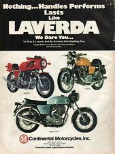 1976 Laverda 750 SFC / SF & 1000cc Triple - Vintage Motorcycle Ad