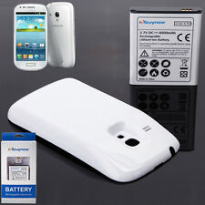 Mbuynow Samsung Galaxy S3 Mini i8190 4000mAh Extended Battery w/White Case Cover