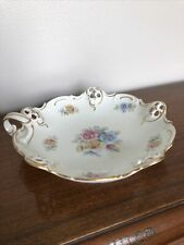 RC Moliere Bavaria 1127 54 Gold Floral Candy Nut Trinket Jewelry Dish Plate Bowl