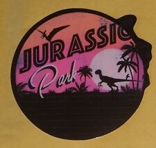 Jurassic Park Sticker | Pink / Purple Sunset | Dinosaur Decal