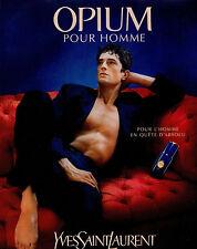 Publicité Advertising 1998  Parfum  OPIUM pour homme YVES SAINT LAURENT