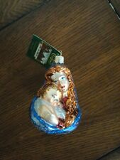 Old World Glass Christmas Ornament Mother And Child