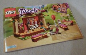 Lego FRIENDS Manual Only NEW (from set) #41334 Andrea's Park Performance
