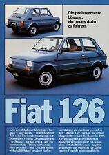 FIAT 126 prospetto auto prospetto opuscolo 1 fogli brochure broschyr auto PKW
