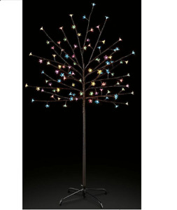 5ft 1.5m LED Cherry Blossom Twig Battery Pre-Lit Tree Indoor & Outdoor Christmas
