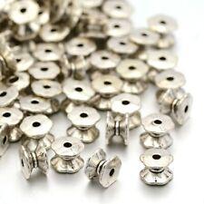 20 Spacer Perlen Silber 7mm zwischenteile Metallperlen Schmuck Basteln BEST F3