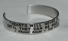 Quote: Frank Baum - Wizard Of Oz / Engraved, Hand Polished Bracelet,Gift Bag