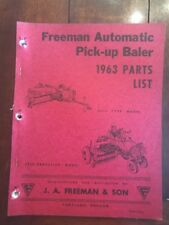 1963 NEW HOLLAND MODEL REPAIR PARTS LIST FOR AUTOMATIC PICK UP BALER