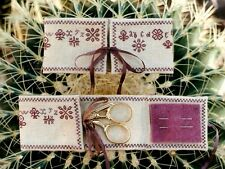 EP Brightneedle Needlekeep & Scissors Flat Cross Stitch Graph Leaflet Pattern