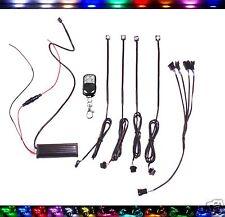 4pc Multi-Color LED Projector Demon Eye / Brake Reservoir Accent Lights + Remote