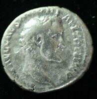 SILVER DENARIUS ANTONINUS PIUS IMPERIAL ROMAN COIN  - FINE CONDITION
