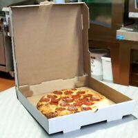 White Corrugated Plain Pizza Bakery Box Hotel Resto (50-Pack) 12 x 12 x 1 3/4