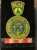 Vintage Patch Lot Of 2 NCHA Patches NATIONAL CAMPERS & HIKERS ASSOCIATION 98WF