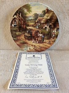 """Wedgewood plate from """"country days"""" collection """"Early Morning Milk"""" 1991"""