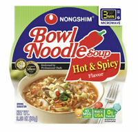 (12 Pack) Nong Shim Bowl Noodle Soup Ramen Hot and Spicy Flavor  - 12 Bowls