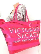 VICTORIA'S Secret Rouge Rose Rayure Large Getaway Weekender Défilé de Mode