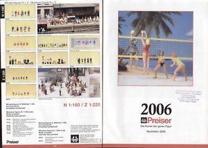 catalogo PREISER Neuheiten 2006 Figuren Spur 1/87 1/72 1/144 1/35 1/120  D    aa