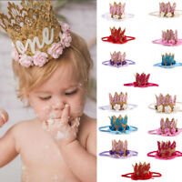 Baby Infant Kids Girl Headband Birthday Party Flower Crown Hair Band Accessories