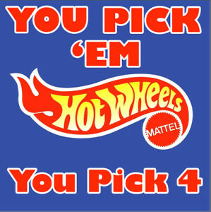 NEW Hot Wheels 1998 to 2003 YOU PICK 'EM Updated Periodically 1:64 You Pick 4
