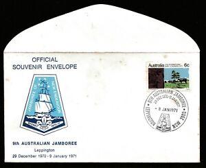 1970-71 9th AUSTRALIAN SCOUT JAMBOREE DECIMAL STAMP OFFICIAL SOUVENIR COVER #O10
