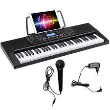 61 Tastatur Elektrisches Keyboard mit Notenständer Mikrofon Digital Piano