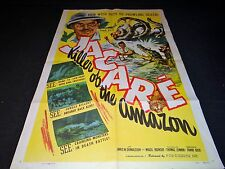 JACARE frank buck  rare affiche cinema jungle no tarzan