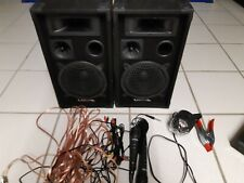 PA DJ Set Party Karaoke Boxen Verstärker Musik Anlage USB MP3 SD BT 2x Mikrofon