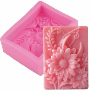 Silicone Soap Mold Sun Flower Craft Fondant Mould DIY Cake Supply Chocolate M.eo