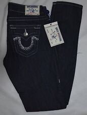 NWT TRUE RELIGION SKINNYJEANS Sz:28 ZIP FLY BUTTON CLOSURE BLING POCKETS USA