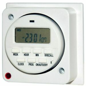 7 Day General Purpose Immersion Electronic Timer 16 Amps Socket Box Programmer