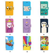 Adventure Time Flip Wallet Case Cover for Sony Xperia Z2 Z3 Z5 LG G5