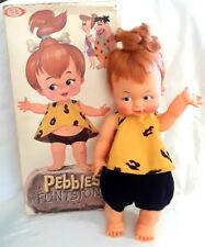 """Vintage 1962 IDEAL PEBBLES FLINTSTONE DOLL 16"""" in Box Bedrock Baby"""