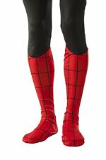 Spider-Man Boot Tops Marvel Fancy Dress Up Halloween Adult Costume Accessory