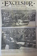 TRIBUNAL JUGEMENT JEUNES GARDES REVOLUTIONNAIRE LIBERTAIRES EXCELSIOR OCT 1911