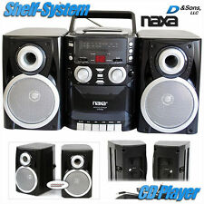 NEW NAXA AM/FM Radio/CD/Cassette Player Portable Stereo Shelf System w/Aux-input