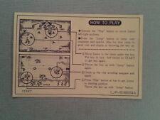 NINTENDO GAME&WATCH MULTISCREEN DONKEY KONG II JR-55 ORIGINAL HOW TO PLAY SHEET