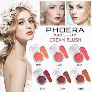 PHOERA Natural Cream Blush Makeup Face Rouge Make Up Natural Cheek Blusher US