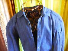 unisexe,chemise  toile bleue ,, T1/2,BORDS ARRONDIS , mi-CEIntrée