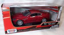 Aston MARTIN DB9 in Rosso Magma Motor Max modello IN SCALA 1-24 NUOVO IN SCATOLA