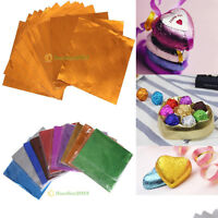 """100pcs 4"""" X 4"""" Foil Wrappers Square Candy Sweets Chocolate lolly Confectionary"""