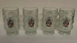 Lot of 4 BECK'S .25 L BEER GLASS MUG CUP PRODUCT OF GERMANY - Excellent Cond