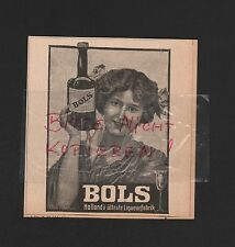 AMSTERDAM, Werbung 1908, Erven Lucas Bols Likör-Fabrik