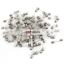100 Pcs 20A Glass Tube Silver Tone Clear AGU Fuse for Motorcycle 30mm x6mm 121g