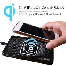 QI TAPPETINO USB WIRELESS CARICABATTERIE SUPPORTO AUTO HUD ANTISCIVOLO CELLULARE